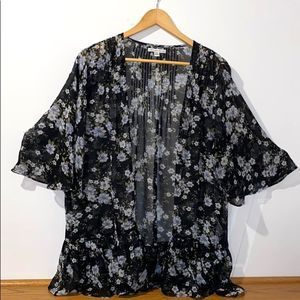 American Eagle Outfitters Black Gray Lace Cover Up